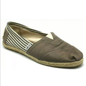 Toms Classic Slip On Loafer Flat Espadrille Stripe